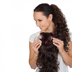 Gisela Mayer Layered Comb Curly hagyományos pótcopf póthaj csattal szintetikus műhajból