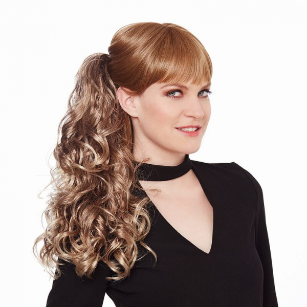 Gisela Mayer BF Super Curl curly long clip in ponytail...