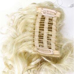 Gisela Mayer Clippy Curly rugalmas alapú tressz csatos póthaj szintetikus műhajból - L22 (fehérszőke)