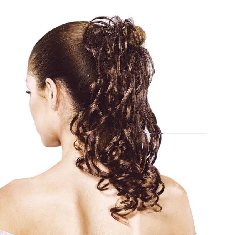 Gisela Mayer Caipi hullámos hosszú hajgumis póthaj konty szintetikus műhajból 25 cm