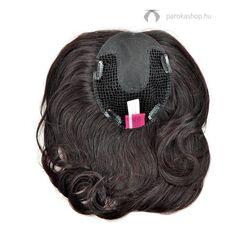 Gisela Mayer Integration Large HH csatos póthaj fejtetőre emberi hajból - 1B (festett fekete)